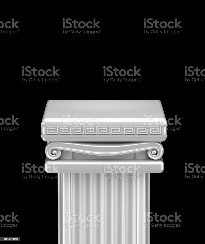 Ancient pillar top stock photo
