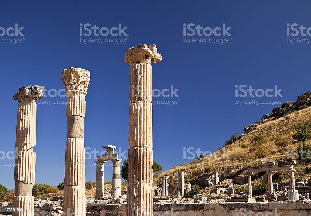 Ancient Pillars of Ephesus royalty-free stock photo