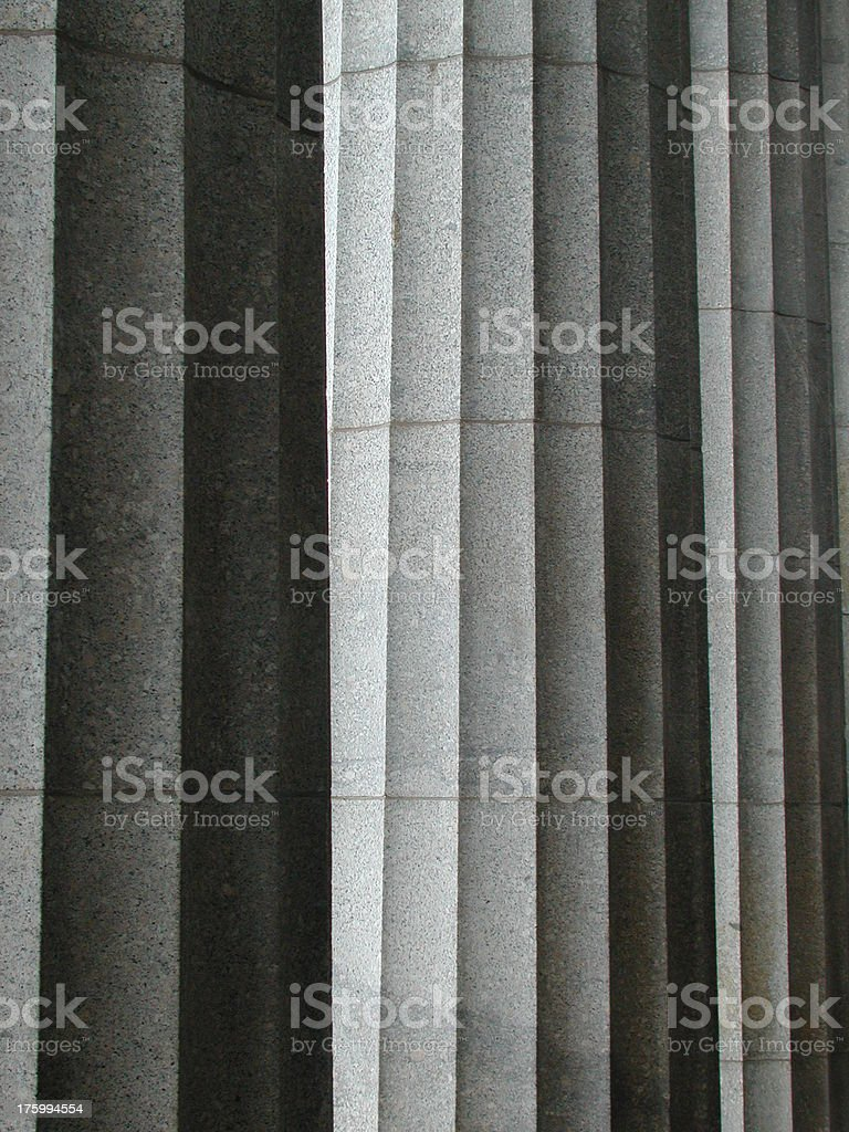 Ancient pillars stock photo