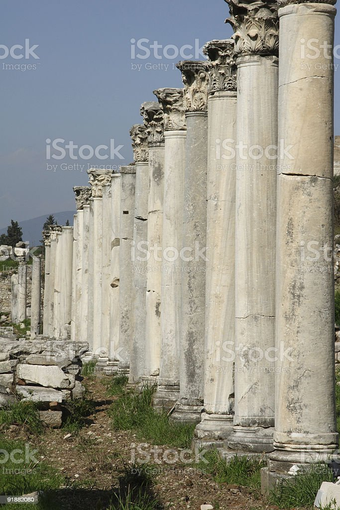 Ancient Pillars royalty-free stock photo