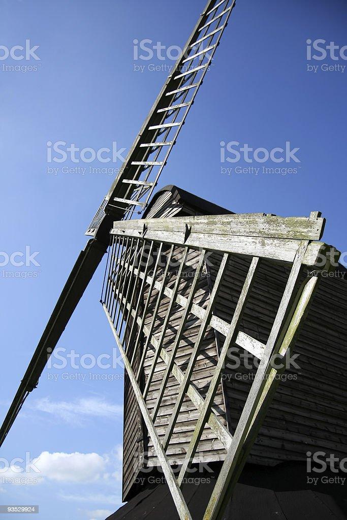 ancient pitstone wooden windmill buckinghamshire royalty-free stock photo