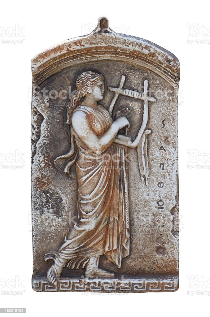 Ancient poet Sappho royalty-free stock photo