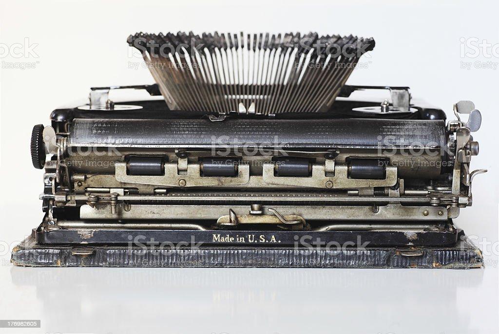 ancient portable typewriter royalty-free stock photo