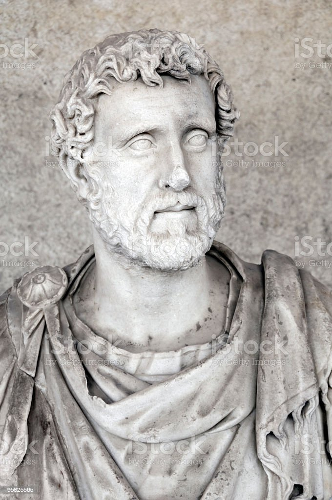 Ancient Portrait Bust Of Antoninus Pius royalty-free stock photo