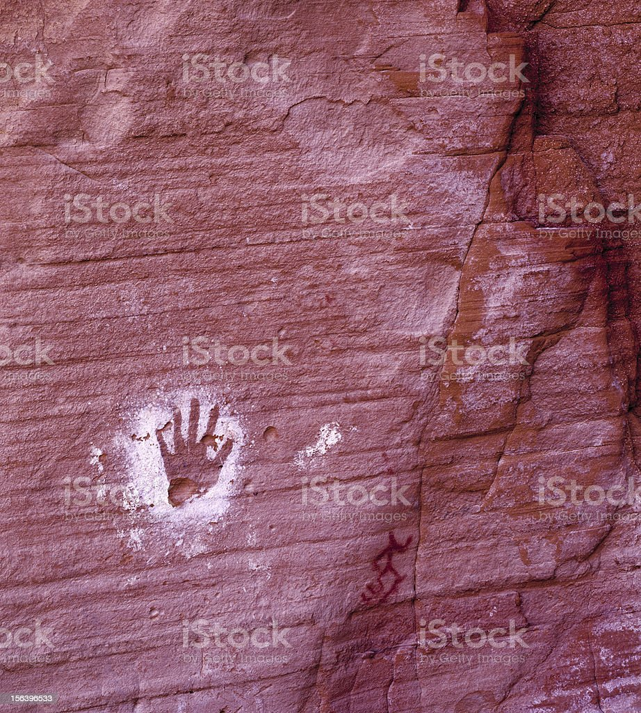 Ancient Portrait, House of Hands stock photo