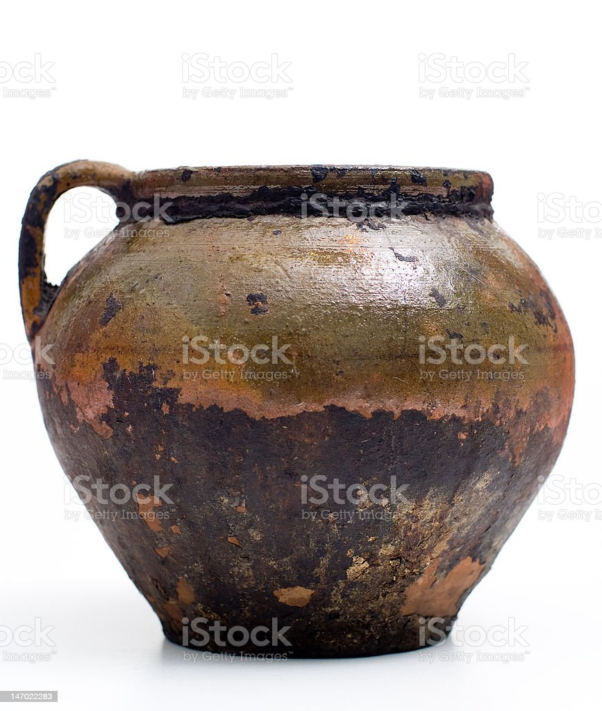 Ancient pot royalty-free stock photo