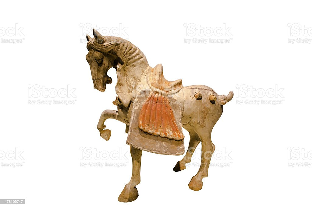 ancient pottery horse stock photo