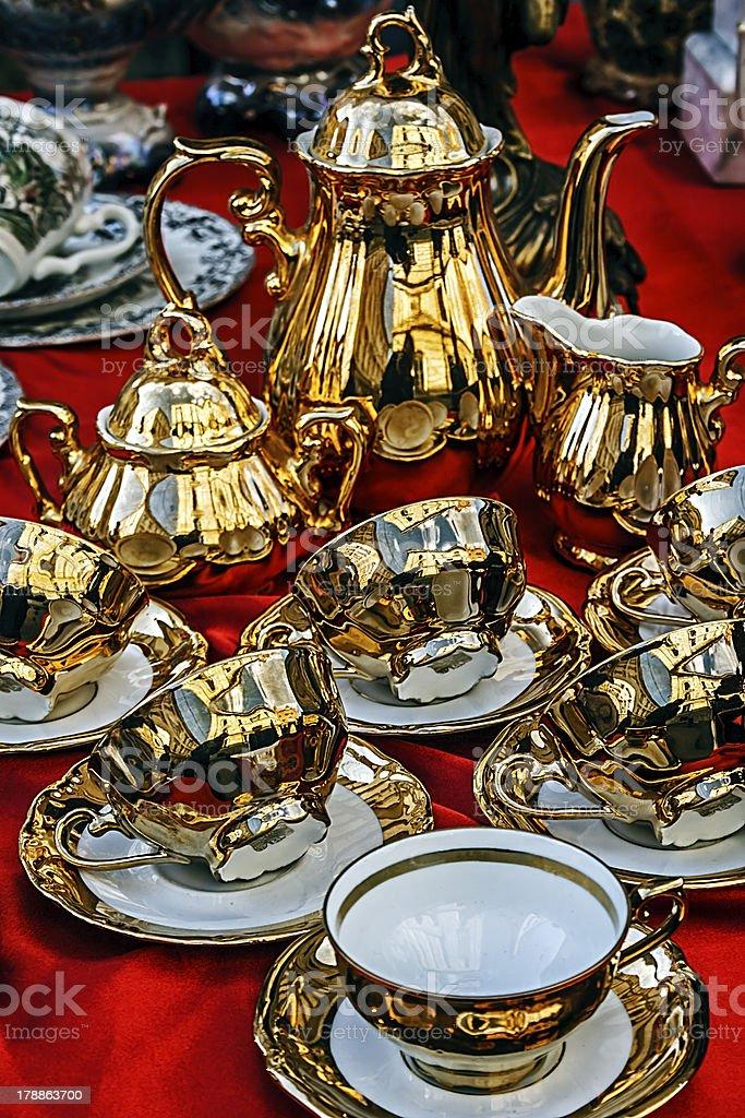 Ancient pottery royalty-free stock photo