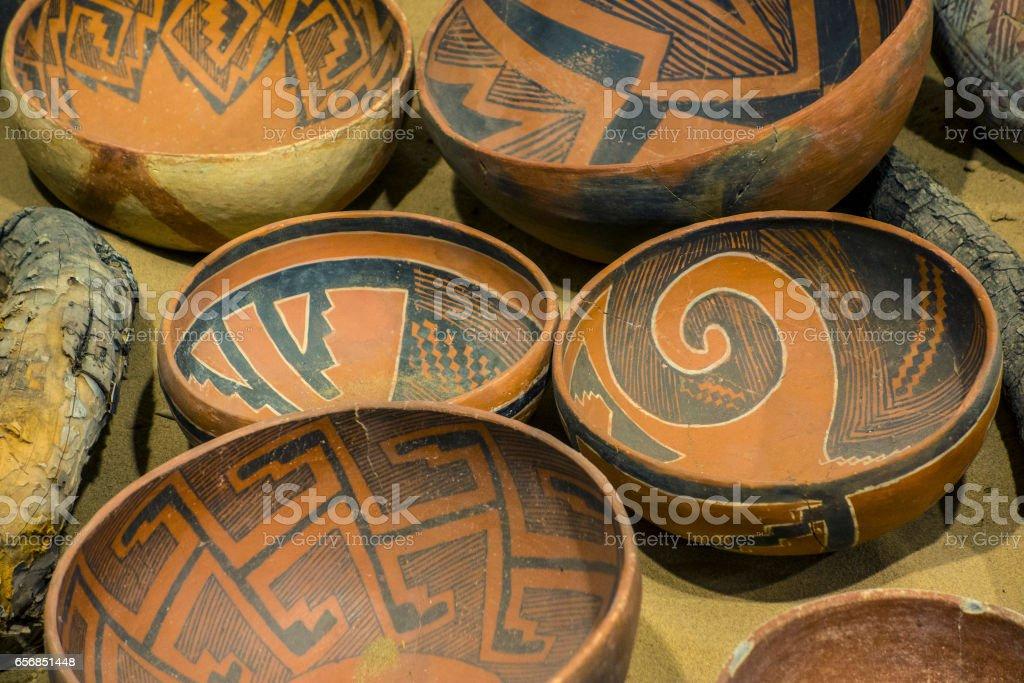 Ancient pottery stock photo