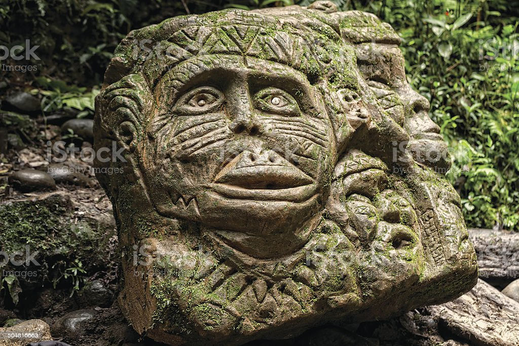 Ancient Pre Columbian Statue stock photo