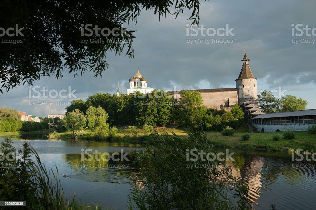 Ancient Pskov stock photo