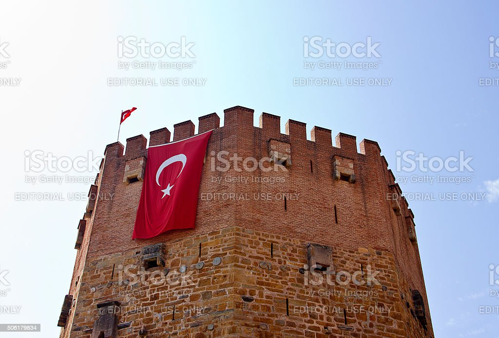 Ancient Red Tower stock photo