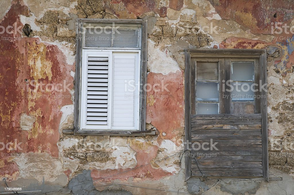 ancient red wall royalty-free stock photo