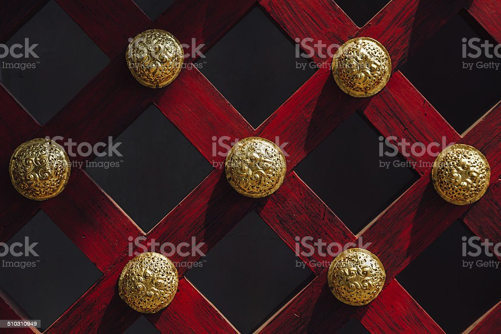 Ancient Red Wooden Lattice stock photo