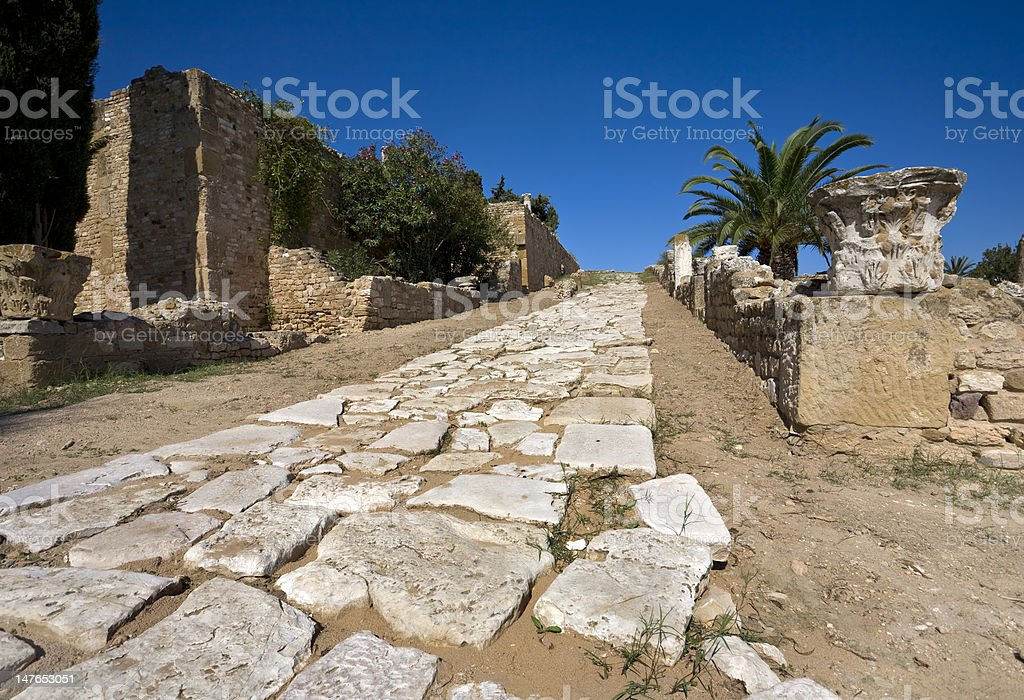 Ancient road royalty-free stock photo