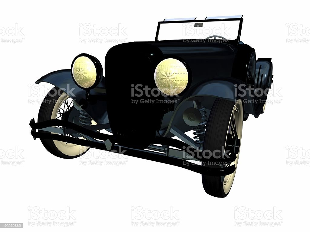 antique roadster stock photo