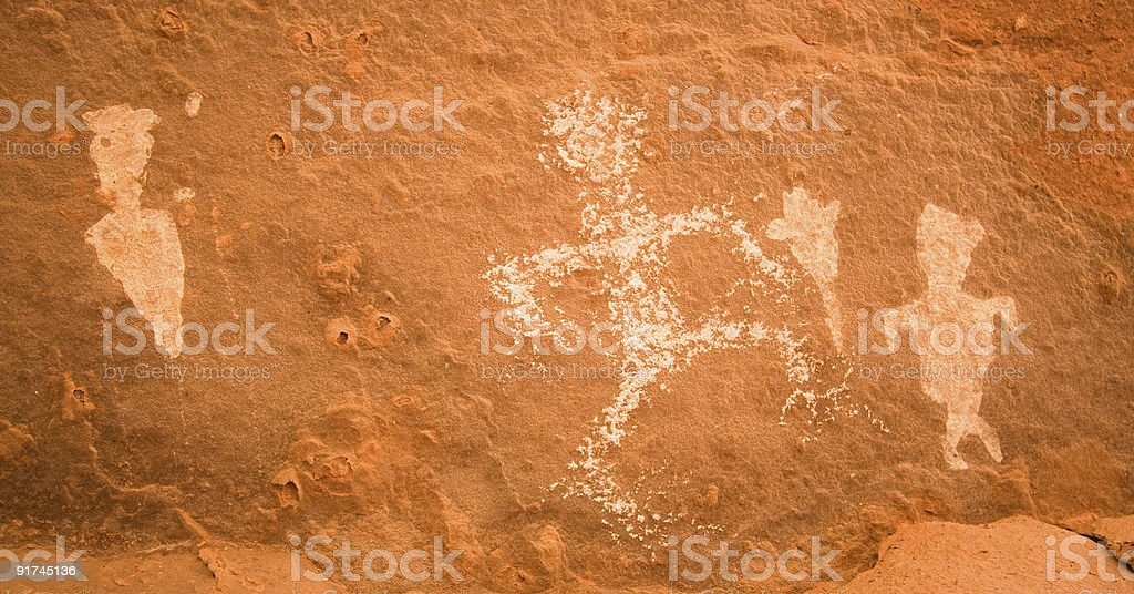 Ancient Rock Art of the Grand Canyon royalty-free stock photo