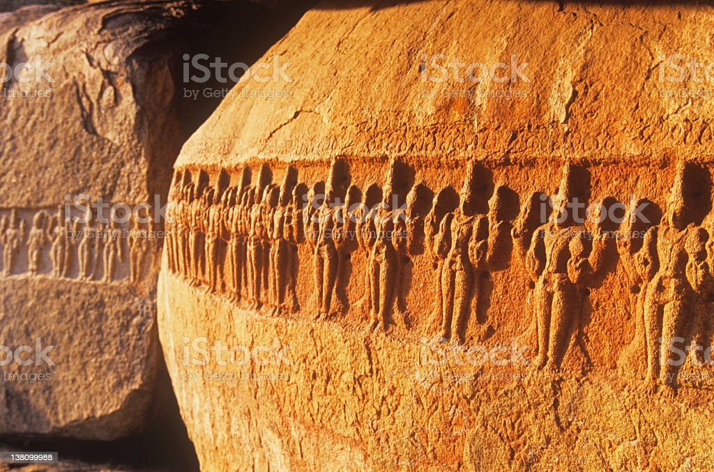 Ancient Rock Carving 2 royalty-free stock photo