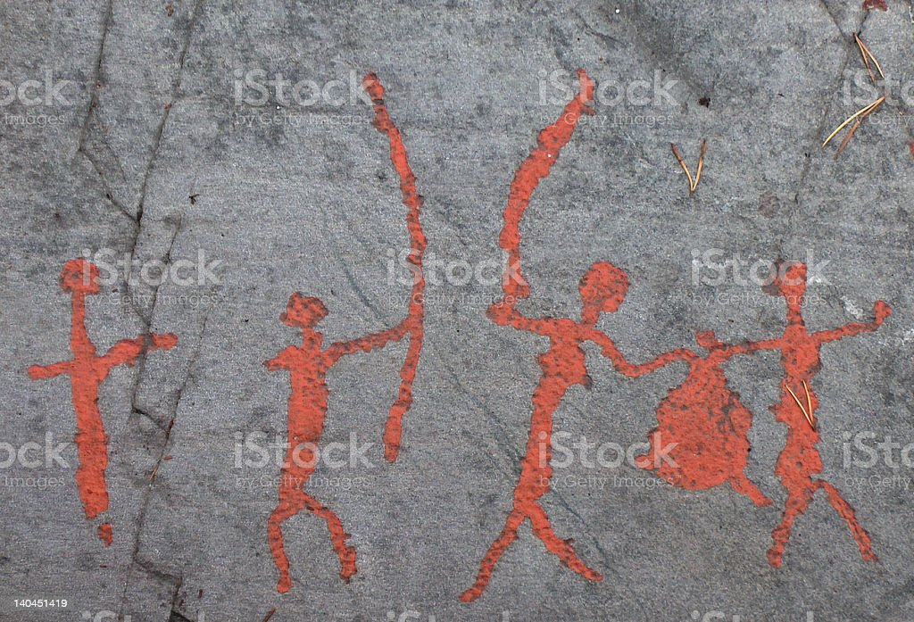 Ancient Rock Carving-1 stock photo