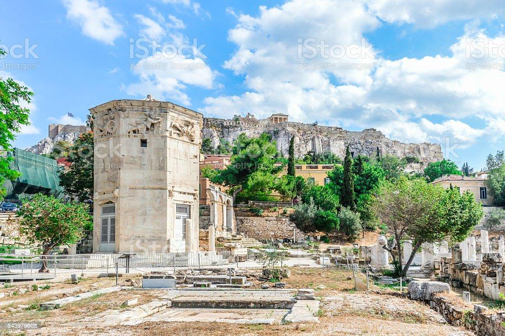 Ancient Roman Agora in Athens, Greece stock photo