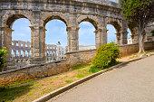 Ancient Roman amphitheater (arena) in Pula. Croatia.