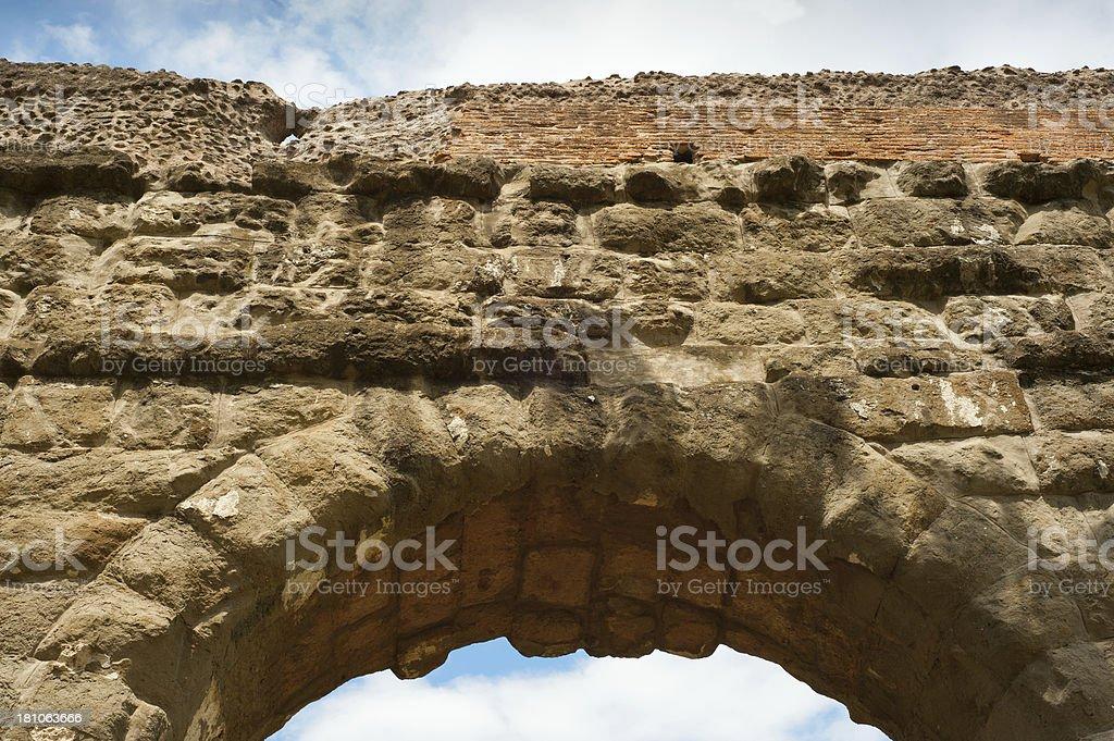 Ancient roman aqueduct arch, Roma, Italy royalty-free stock photo