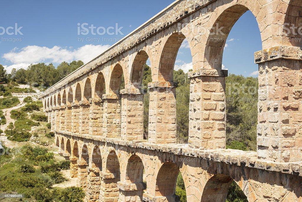 Ancient Roman Aqueduct in Spain, Europe stock photo