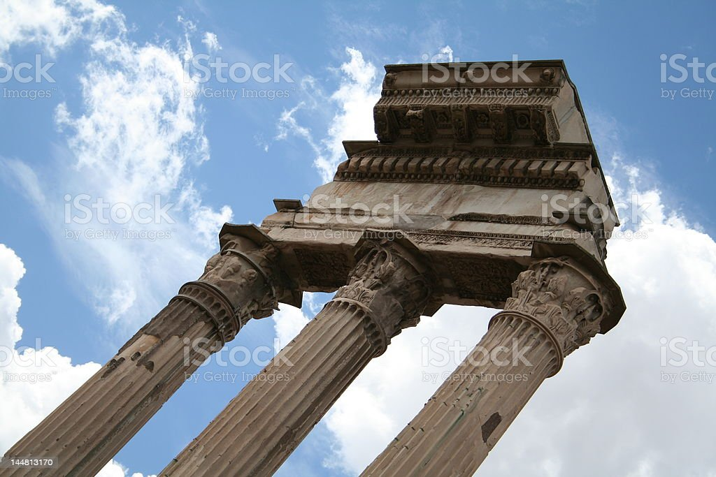 Ancient Roman architecture royalty-free stock photo