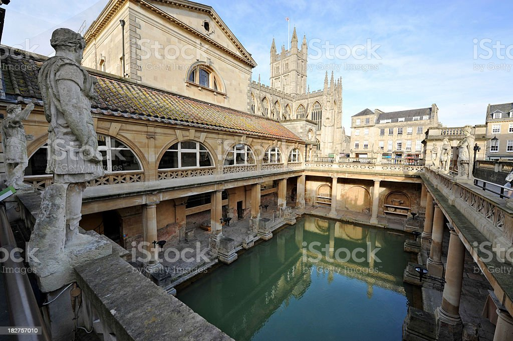 Ancient Roman Baths stock photo