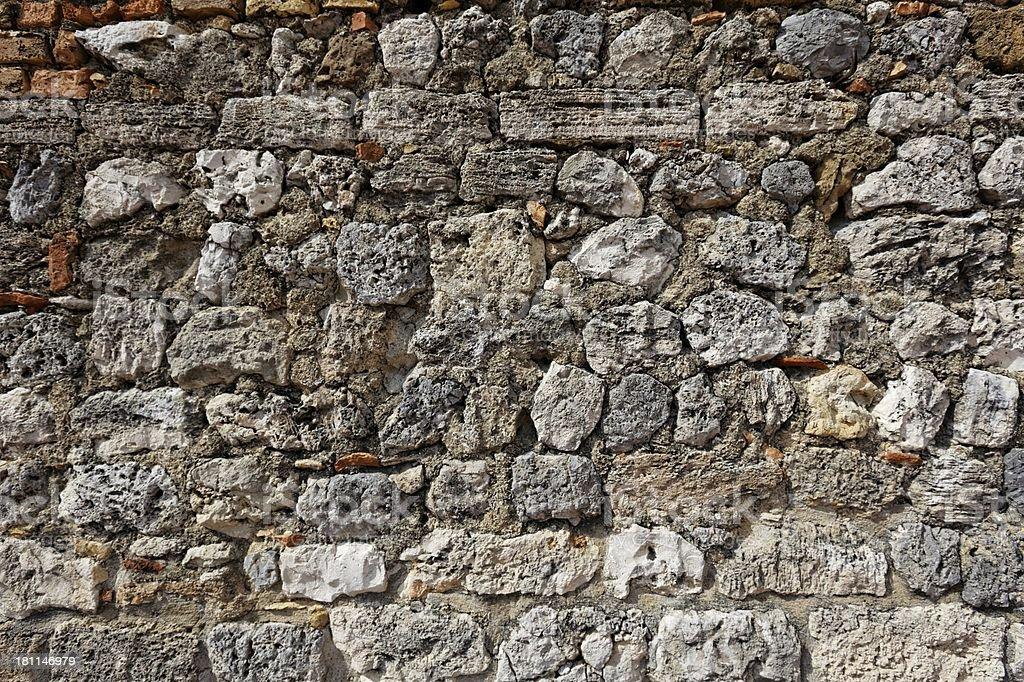 Ancient Roman brick wall : 04 royalty-free stock photo
