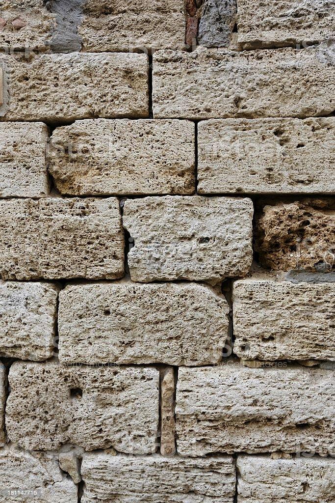 Ancient Roman brick wall : 08 royalty-free stock photo
