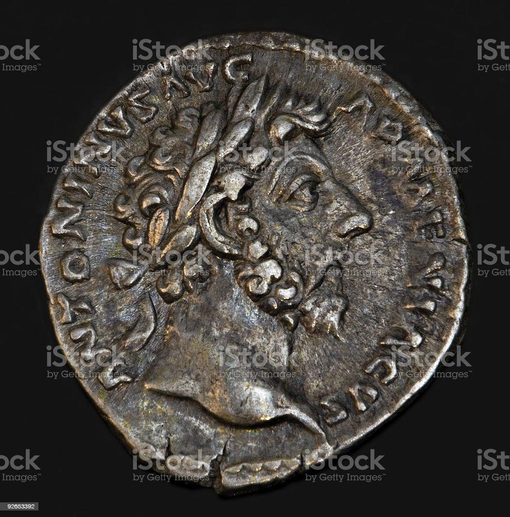 Ancient Roman Coin Antoninus royalty-free stock photo