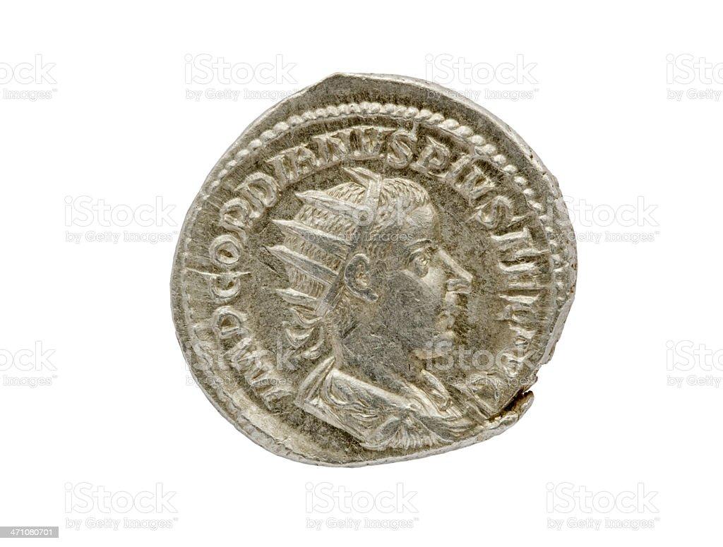 Ancient Roman Coin - Gordian III stock photo
