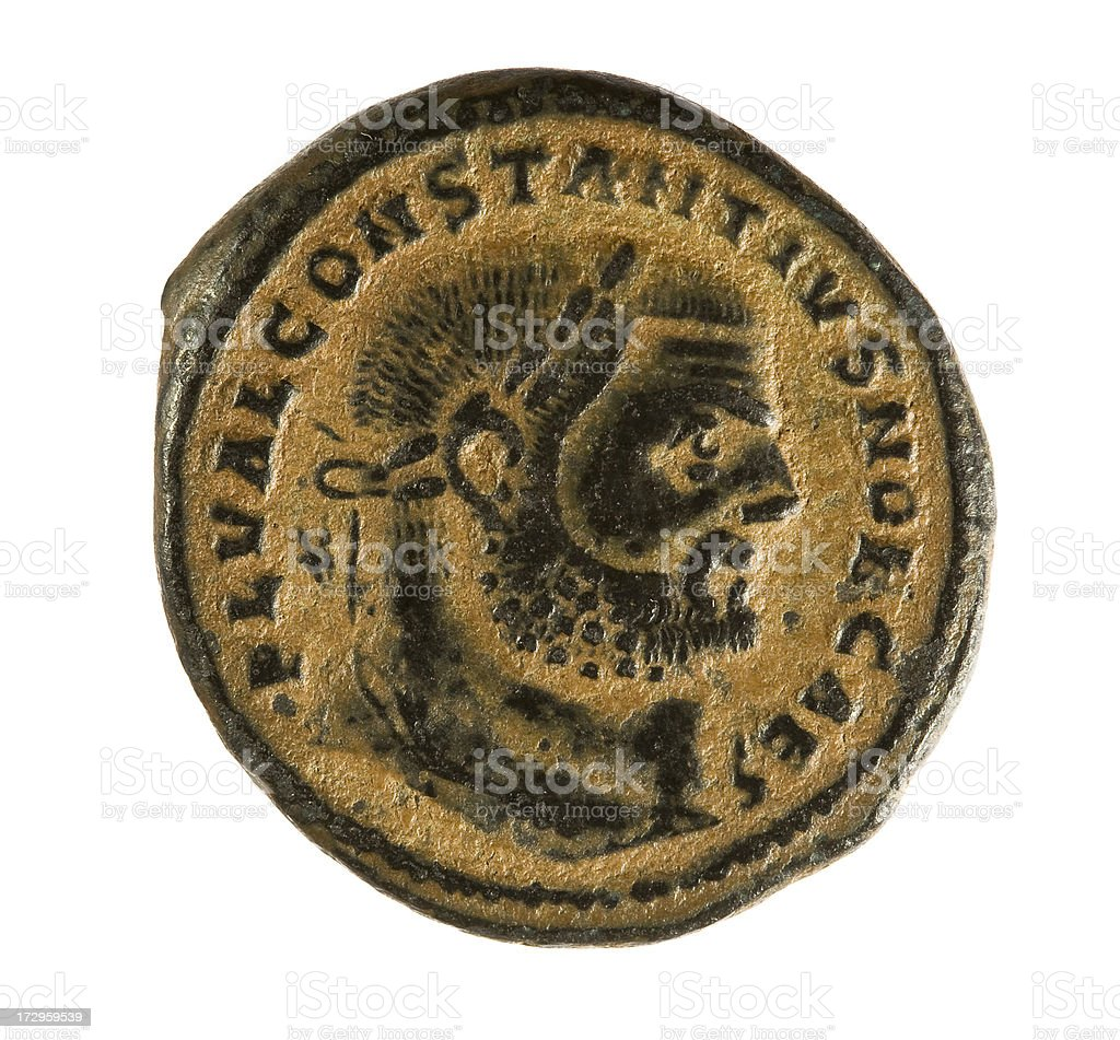 Ancient roman coin royalty-free stock photo