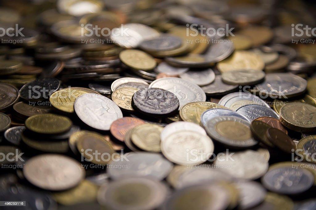 Ancient Roman coin stock photo