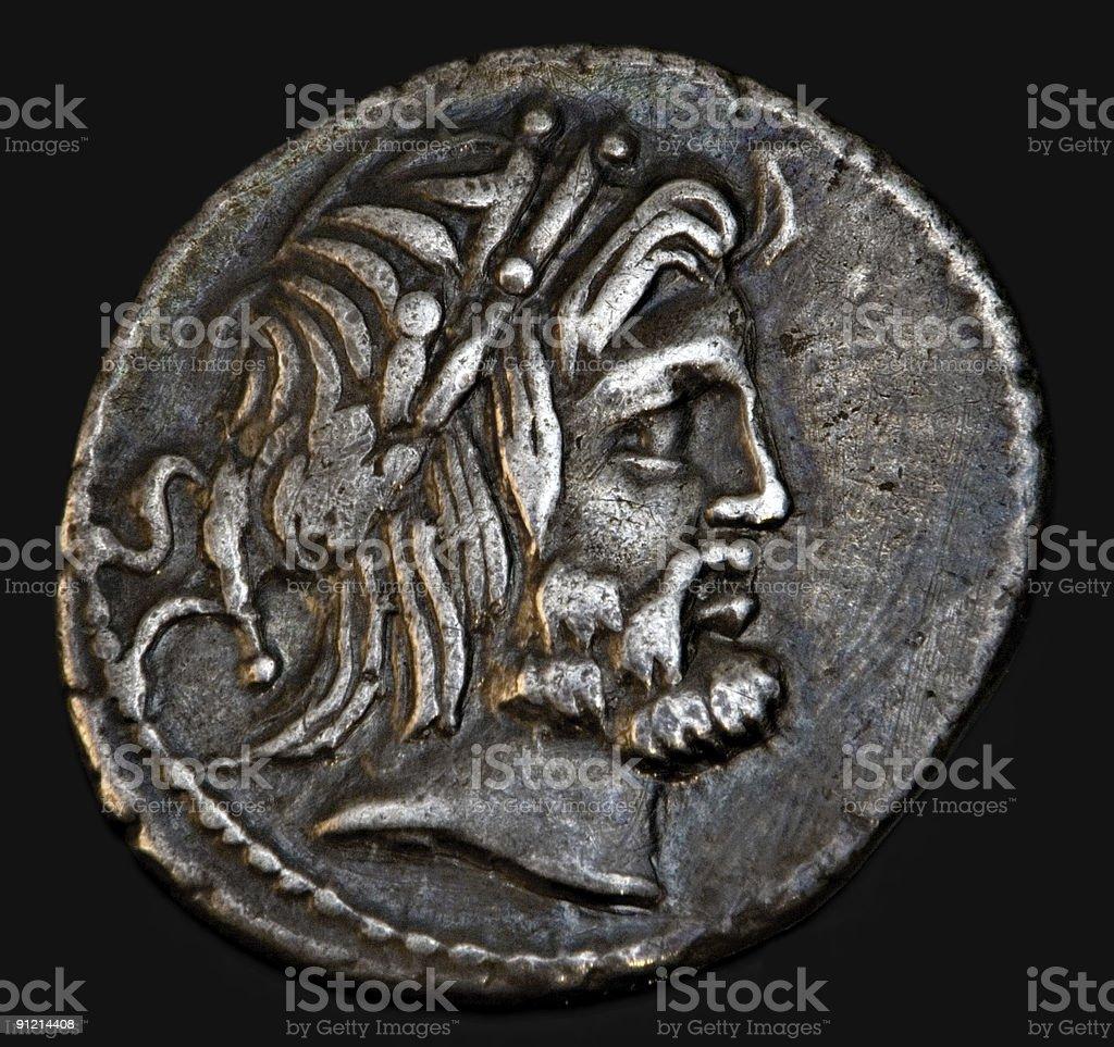 Ancient Roman Coin Procilius royalty-free stock photo