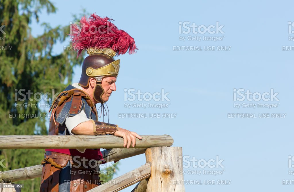 Ancient Roman Commander stock photo