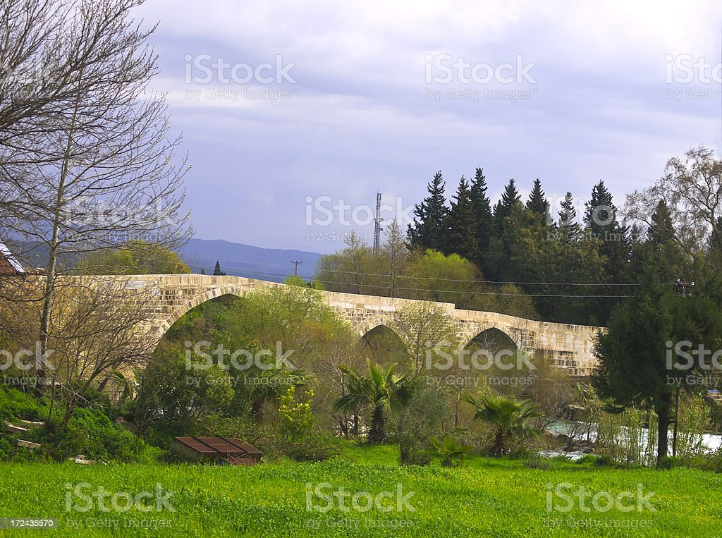 Ancient Roman Eurymedon Bridge stock photo