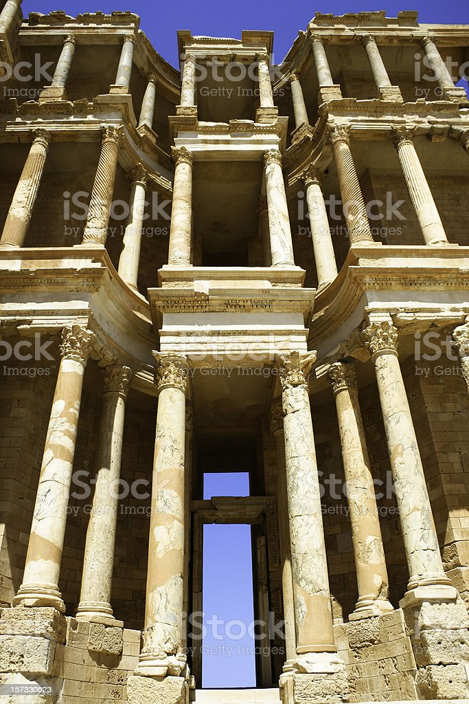 Ancient Roman Facade royalty-free stock photo