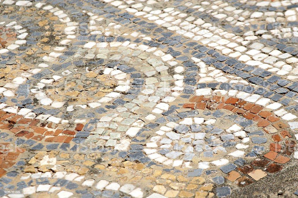 Ancient Roman Floor Mosaic, Ephesus, Turkey royalty-free stock photo