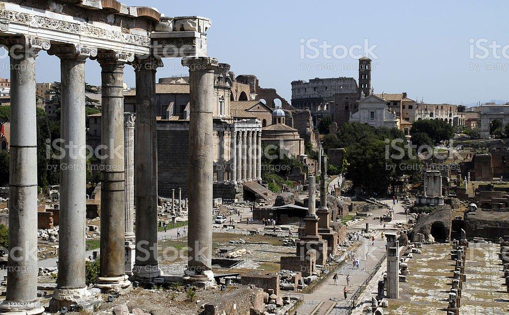 Ancient Roman forum stock photo