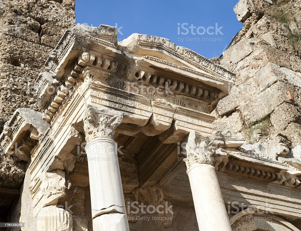 Ancient roman gate royalty-free stock photo