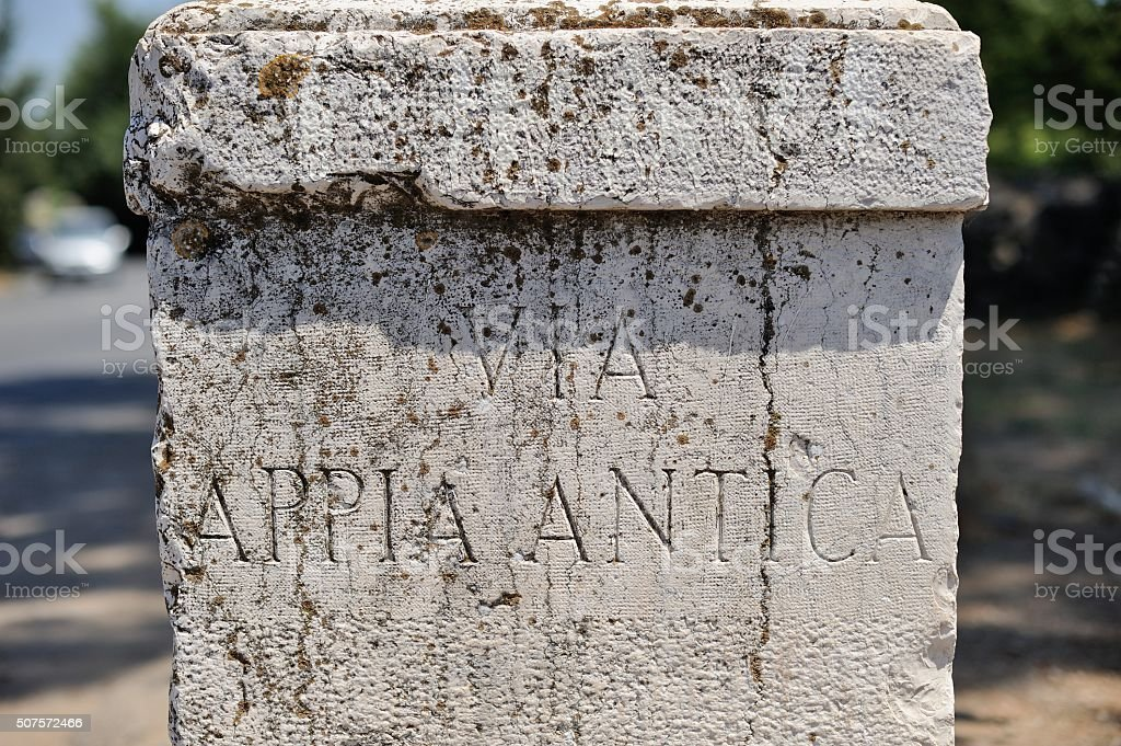 ROME - Ancient Roman inscription stock photo