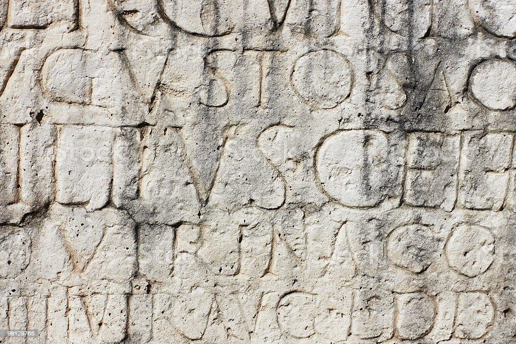 Ancient Roman Inscription royalty-free stock photo