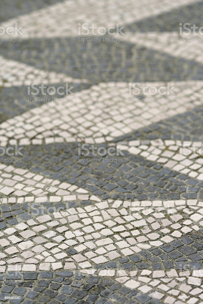 Ancient Roman marble mosaic floor texture,Rome Italy royalty-free stock photo