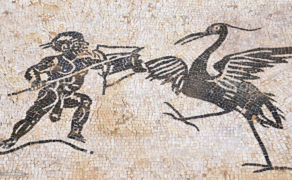 Ancient Roman mosaics, Italica , Sevilla,Spain royalty-free stock photo