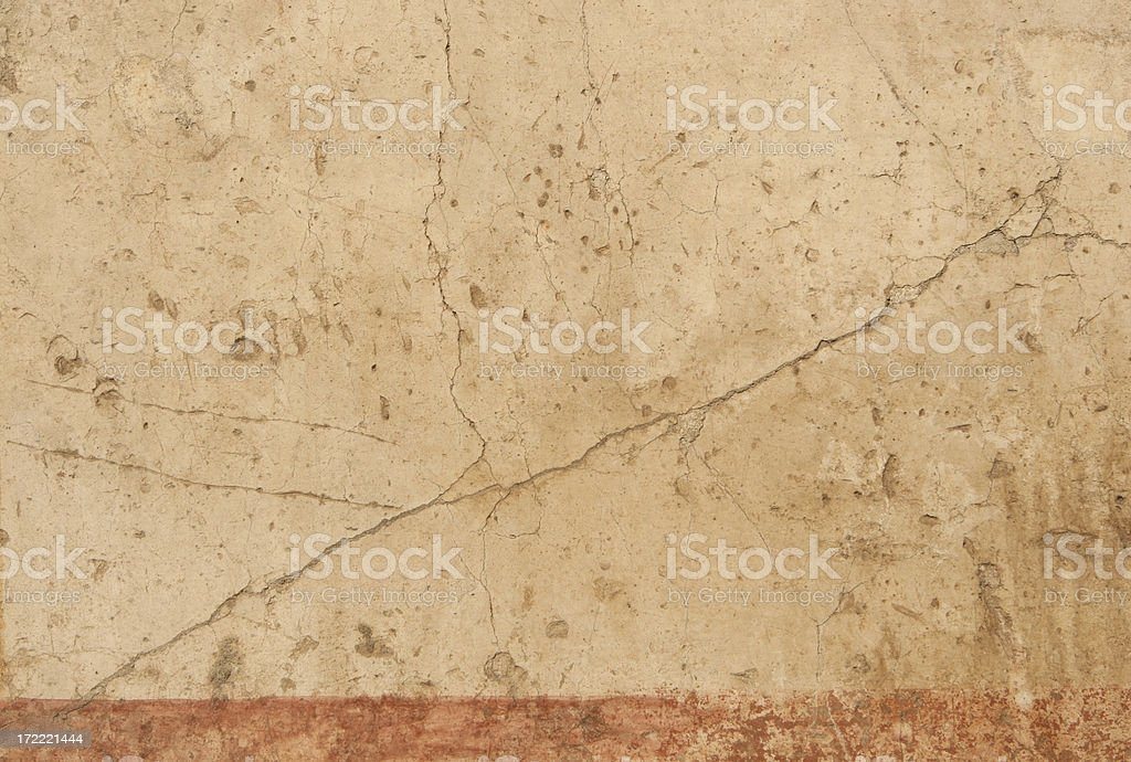 Ancient Roman painted wall texture background, Rome Italy royalty-free stock photo