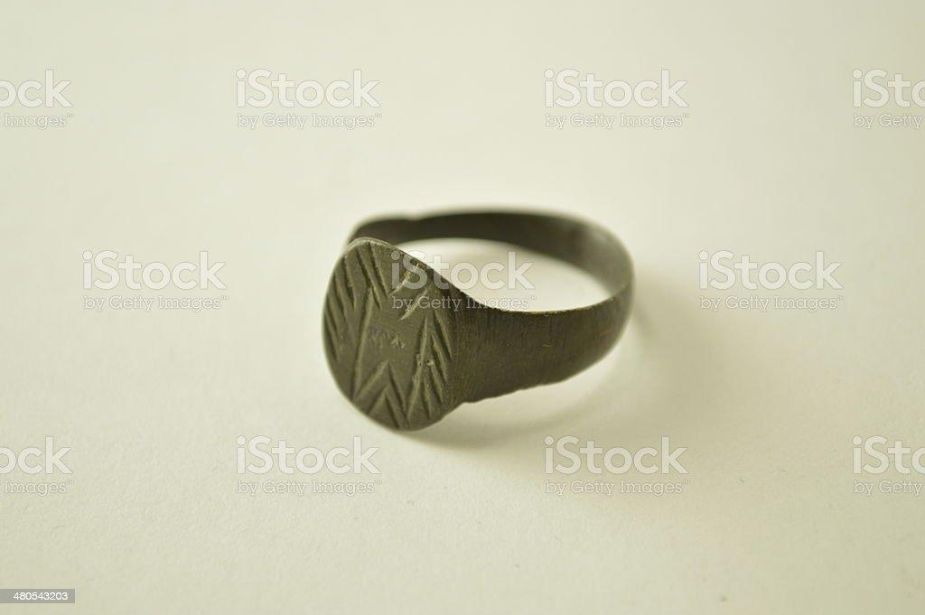 Ancient Roman ring stock photo