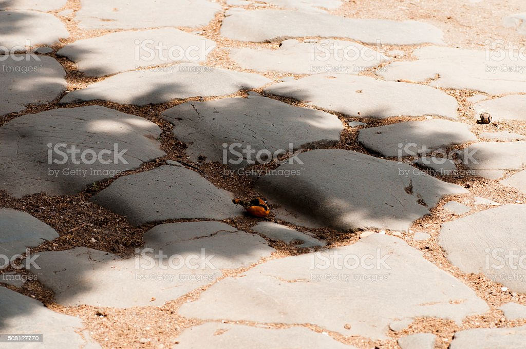 ancient Roman road stock photo