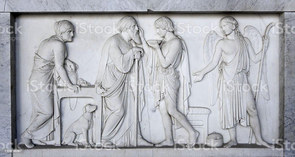 Antike römische Sarkophag Lizenzfreies stock-foto